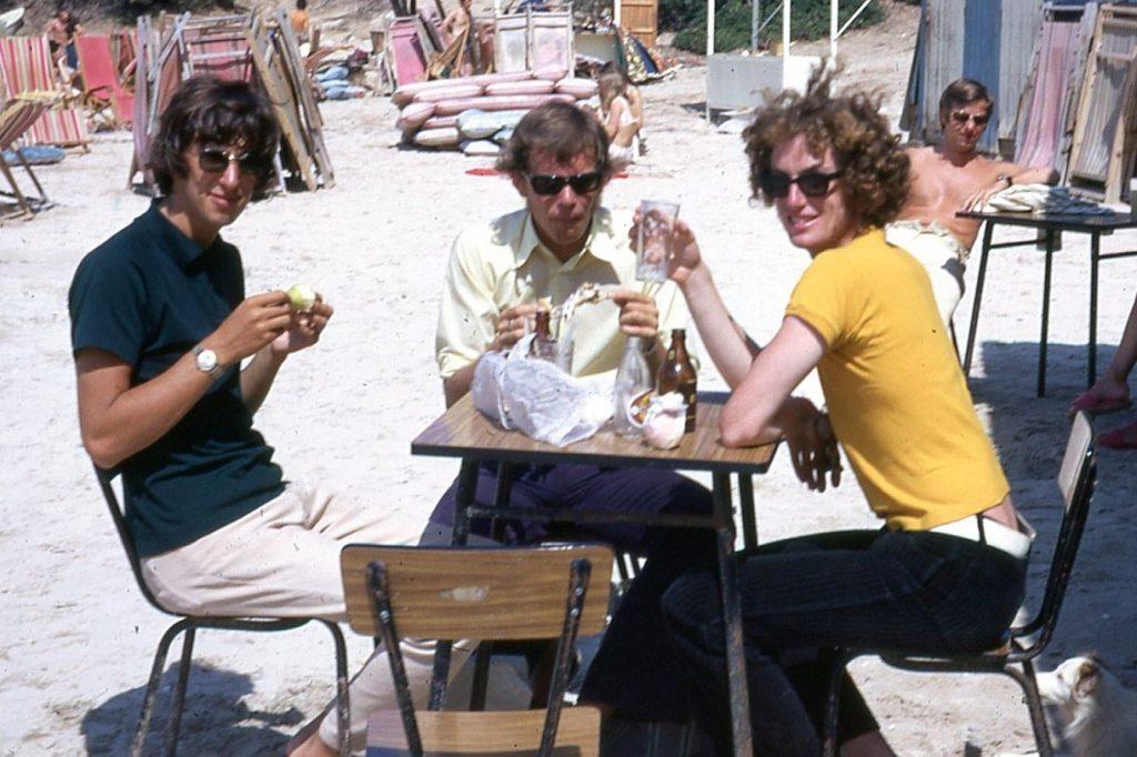 Paul Sloane, Robin Bloor, John Spiers, Ibiza 1971